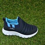 Детские кроссовки Callion adidas синие сетка р26-30