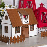 Крашеный Кукольный Домик Для LOL Сельский Домик С Мебелью И Светом Fana