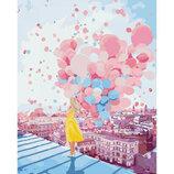 Картина По Номерам идейка. Люди НА Рассвете В Париже 40 50СМ KHO2697