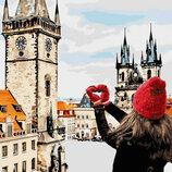 Картина По Номерам идейка. Городской Пейзаж С Любовью В Сердце 40 40СМ KHO3523