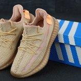 Женские кроссовки Adidas Yeezy 350 Beige
