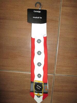 Санта галстук музыкалный