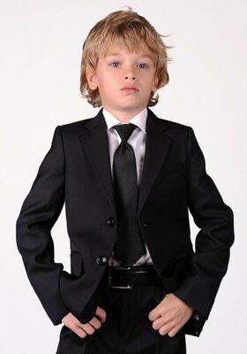 Школьный костюм двойка для мальчика черный