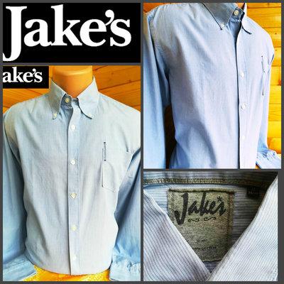 Классическая стильная рубашка в полоску от Jake s, оригинал, р. L