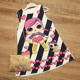 Нарядні платтячка-сарафани Лол сумочка. Турція. 1-4 роки
