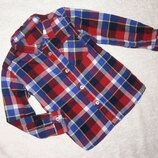 Мягкая теплая рубашка Dunnes Stores на 2-3 года в идеале