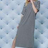 Женское летнее платье полоска 42-56