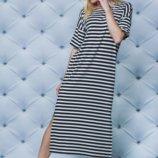 Женское летнее платье полоска