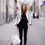 Серебряная косуха - куртка l - размер