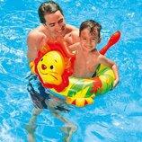 Детский Надувной Круг 58221-1 лев Intex. Дитячий надувний круг. Круг для купання.