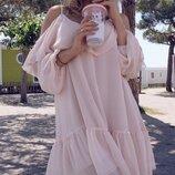 Легкое летнее платье свободного кроя