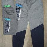 Спортивные брюки для мальчиков принт р.98-128
