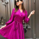 Красивое платье «Stileo лен» семь расцветок