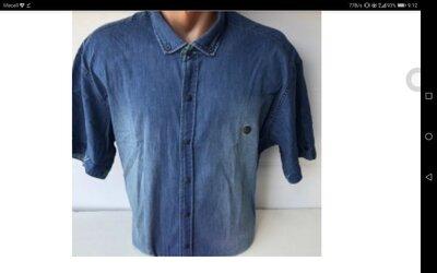 Мужская джинсовая рубашка батального размера. Турция