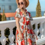 Красивое нежное платье 42 - 44, 44 - 46 две расцветки