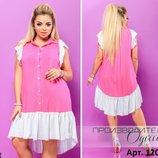 Платье Y-6835 . Размер 50-54, 54-58 платье мод 124/555 ткань штапель
