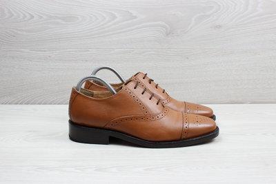 Кожаные мужские туфли броги Samuel Windsor, размер 41 - 41.5