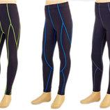 Штаны подростковые компрессионные для спорта 1202T размер 26-32 125-155см