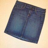 Юбка джинсовая прямая темно синяя р.12 TU