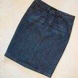 Джинсовая юбка-карандаш темно синяя jeans wear visto bueno р.8-10