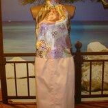 Юбка пудровая классическая, размер 8-10 H&M