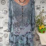 Next. Замечательная шифоновая блуза-туника, в цветочный принт, раз 46