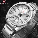 Классические мужские часы Naviforce Rocket 9038 Silver, Гарантия. Класичний годинник