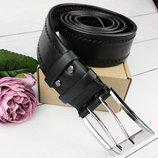 Ремень Мужской Кожаный KB-45 BLACK 4,5 См XXL 150 См