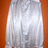 Белая атласная мужская рубашка Paul Jones