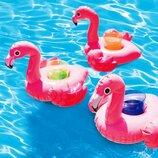 Плавающий подстаканник Intex 57500 «Фламинго», 33 х 25 см