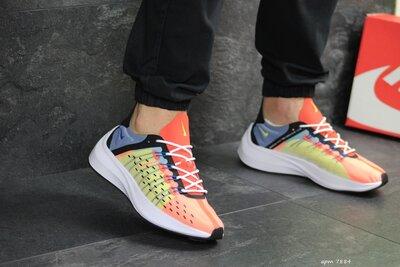 Nike EXP-X14 кроссовки мужские демисезонные оранжевые с желтым 7884