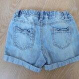 шорти детские джинс 6 - 7 лет F&F регулировка на талии