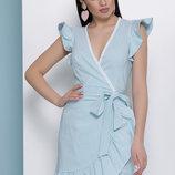 Женское летнее платье Алсу б/р из науральной ткани бенгалин в полоску скл.2