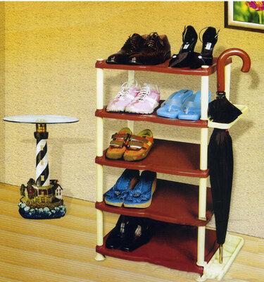 Пластиковая полка для обуви на 5 ярусов.Полка обувайка. Полка этажерка на 5 ярусов. Поличка