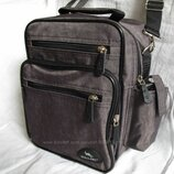 Мужская сумка Wallaby2665 хаки барсетка через плечо 20х25х16см