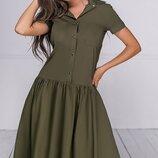 Женское каттоновое повседневное платье цвета в асортименте скл.1 арт.54187