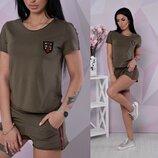 Костюм шорты футболка . Ткань - х / б ,С 42-44 , М 44-46