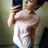 Красивая блузка гипюр нежного цвета розовой пудры