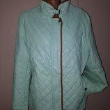 1р куртка эко кожа мятного цвета Nana Belle на высокий рост большой размер рукав от плеча 64 плечи 4