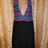Новое короткое женское платье, туника, сарафан с вышивкой Atmosphere
