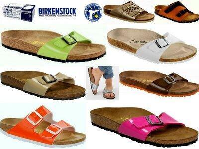 Ортопедические шлепанцы Birkenstock Madrid Birko Flor