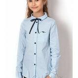Блуза школьная с длинным рукавом на девочку 2645 Mevis Размеры 122- 146