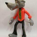 Игрушка кукла Ссср волк ну погоди целлулоид , 20 см. цена клеймо Ссср , мультфильм