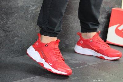 Nike Huarache Fragment Design кроссовки мужские демисезонные красные 7893