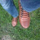 Топ продаж. Стильные кожаные мокасины, летние туфли с перфорацией, кеды, кроссовки повседневные