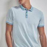 Рубашка поло из текстурированной ткани, до 5XL.
