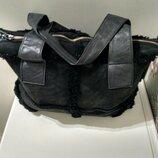 Замшевая сумка мешок