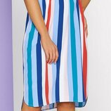 Летнее яркое платье в полоску, размеры 46-54