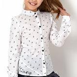 Блуза с длинным рукавом на девочку Тм MEVIS 2897 Размеры 122- 140
