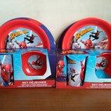 Детская посуда Disney Человек паук Спайдермен щенячий партуль